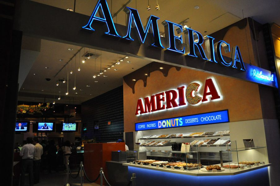 First look at the sugary goodness at america donut shop for American cuisine new york