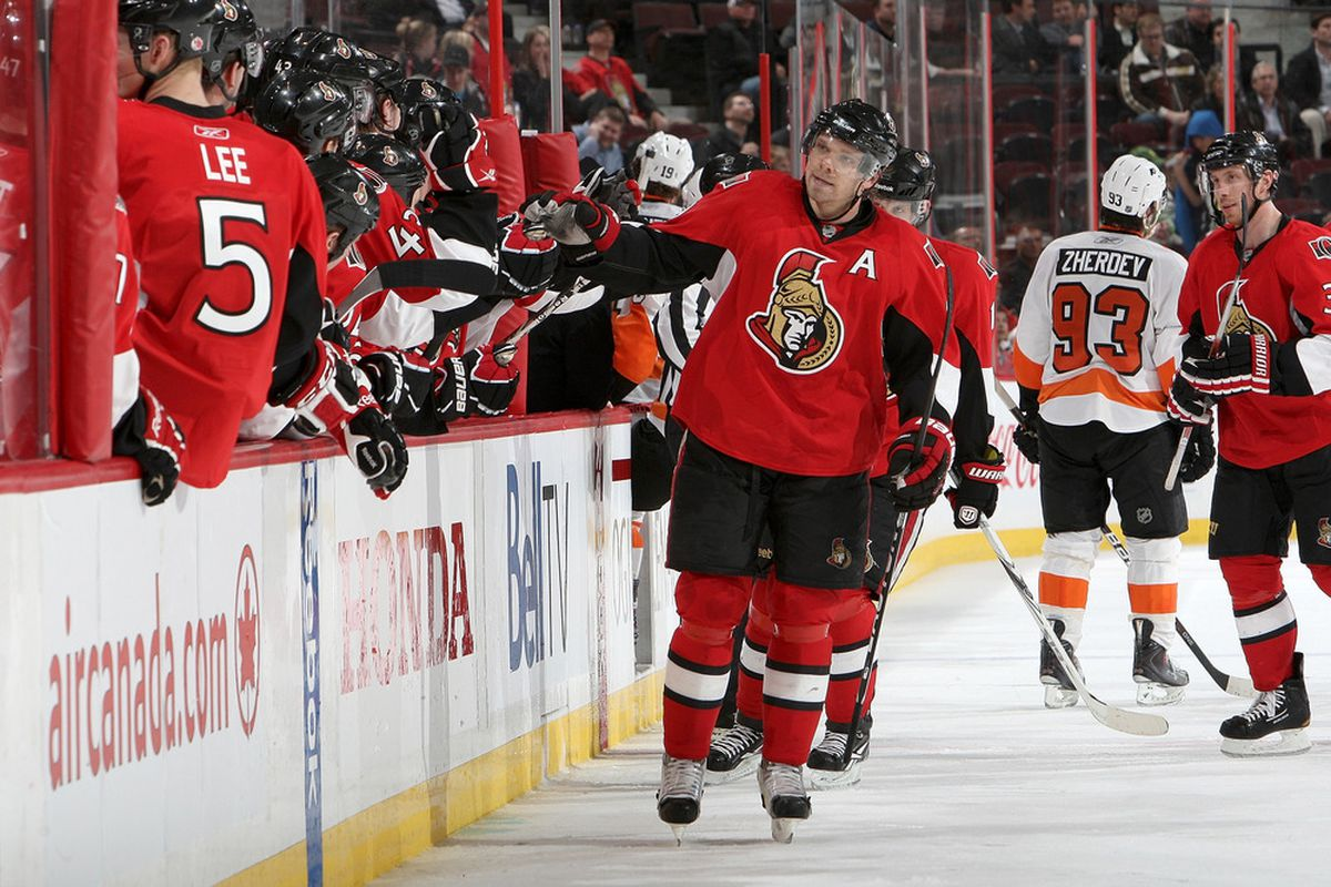 Does Milan Michalek's greatest value for the Senators lie with trading him?  (Photo by Francois Laplante/Freestyle Photography/Getty Images)