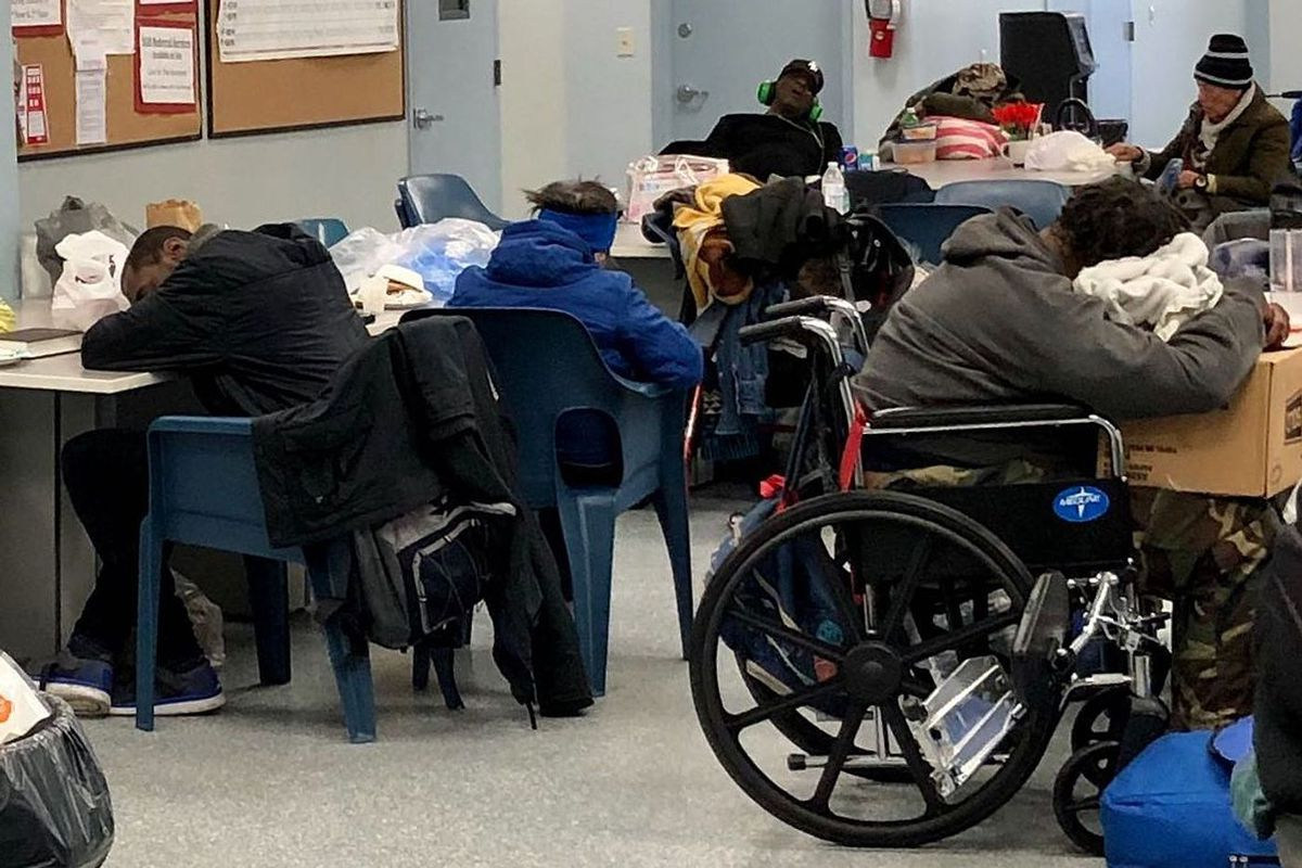 The BronxWorks drop-in shelter at 800 Barretto St., has seen an increase in day traffic amid the coronavirus crisis.