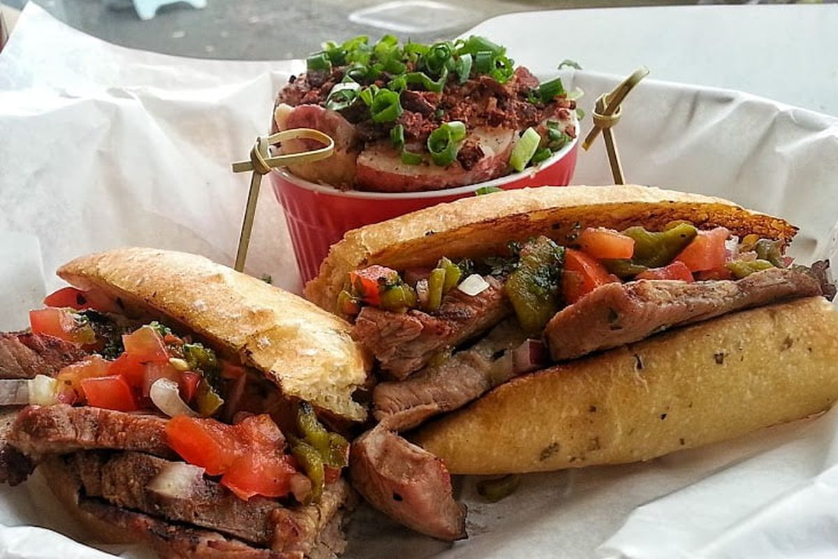 Tri-tip sandwich at Martino's Smoked Meats.