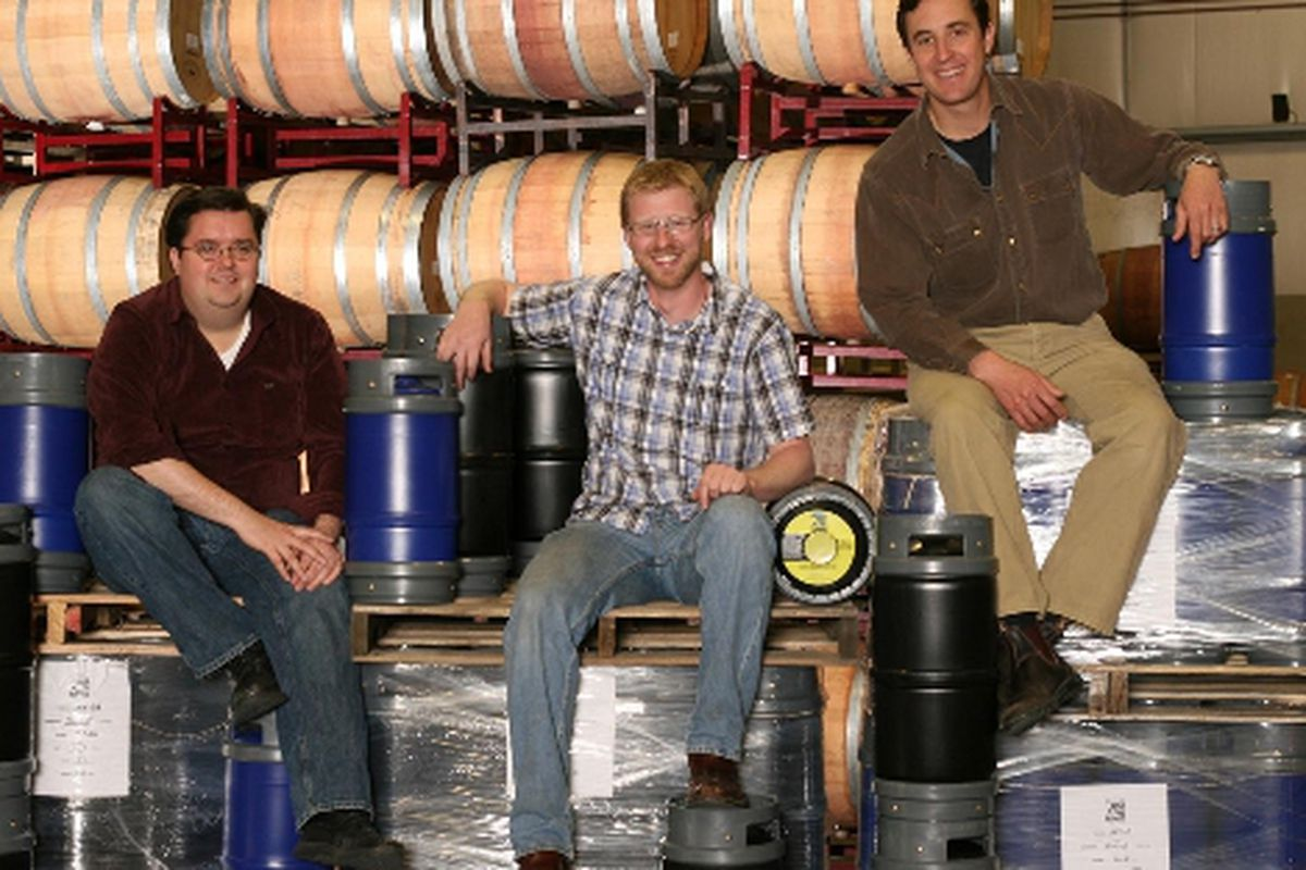 Free Flow Wines partners (left to right): Greg Quinn, Jordan Kivelstadt, and Dan Donahoe, officially launched their wine-on-tap brand, Silvertap, earlier this month.