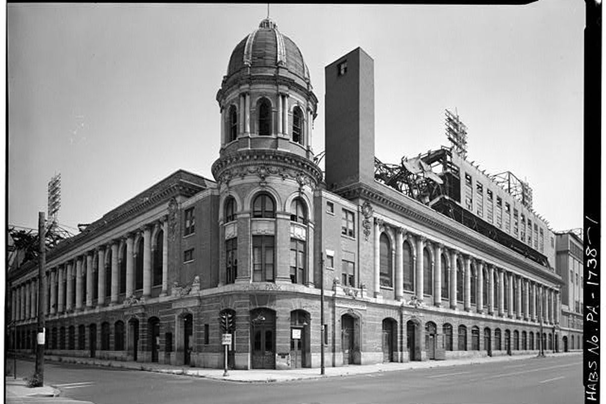 """Shibe Park. Photo via <a href=""""http://www.loc.gov/pictures/resource/hhh.pa0882.photos.140035p/"""">Library of Congress</a>"""