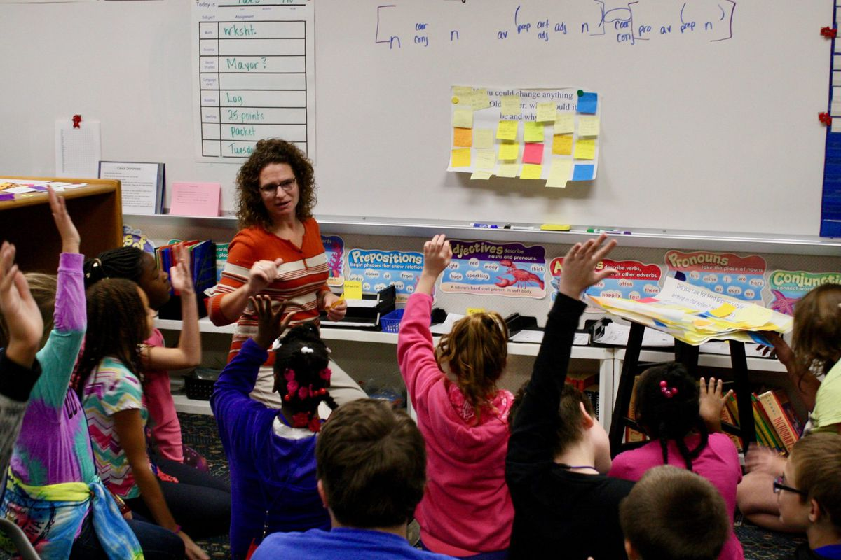 Students at Robey Elementary School in Wayne Township.