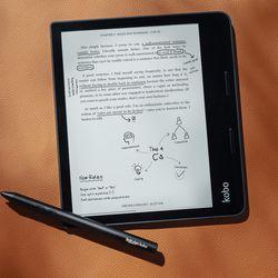 <em>The Kobo Sage supports note-taking via Kobo's stylus. </em>