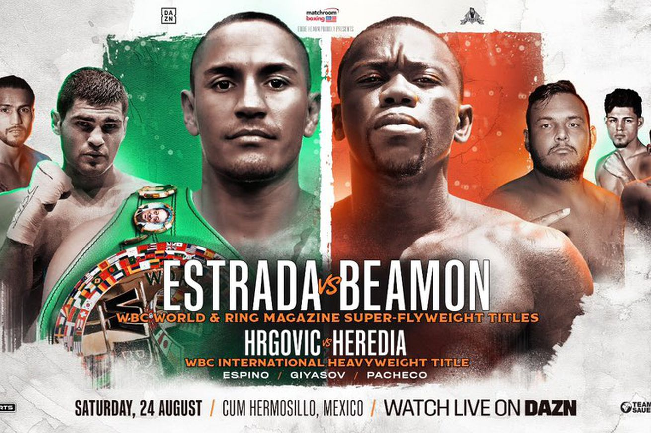 D IVyfsXkAMJtt6.0 - Estrada-Beamon, Hrgovic-Heredia official for August 24th on DAZN