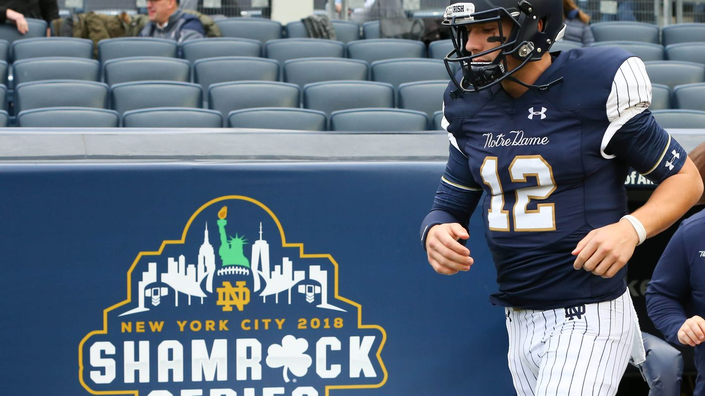 fe8820f8b18 Notre Dame's Yankees uniforms might be even more hated than expected -  SBNation.com