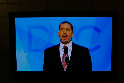 Governor David Paterson. (Via ##http://flickr.com/photos/doublespeakshow/2801607982/##Flickr Creative Commons##)