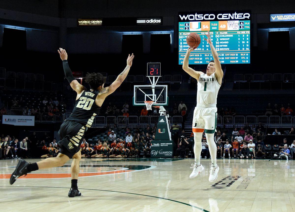 NCAA Basketball: Wake Forest at Miami-Florida