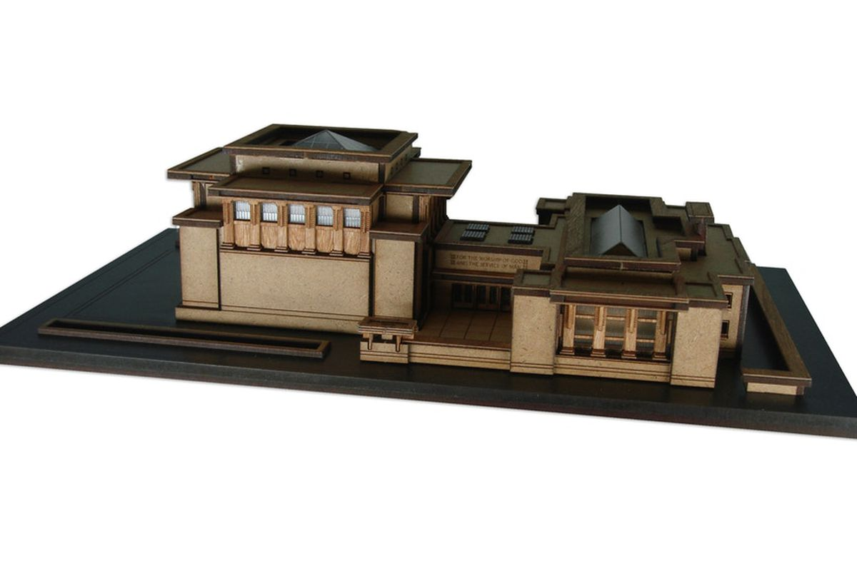 Surprising Frank Lloyd Wright Unity Temple Model Kit Seeks Crowdfunding Download Free Architecture Designs Rallybritishbridgeorg