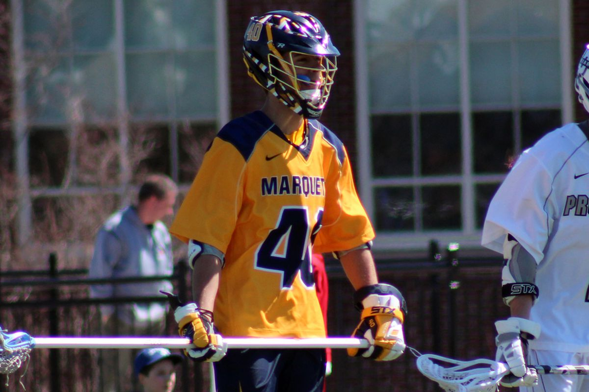 Travis Schelhorn has been with Marquette lacrosse since its inception and has served as team captain this year.