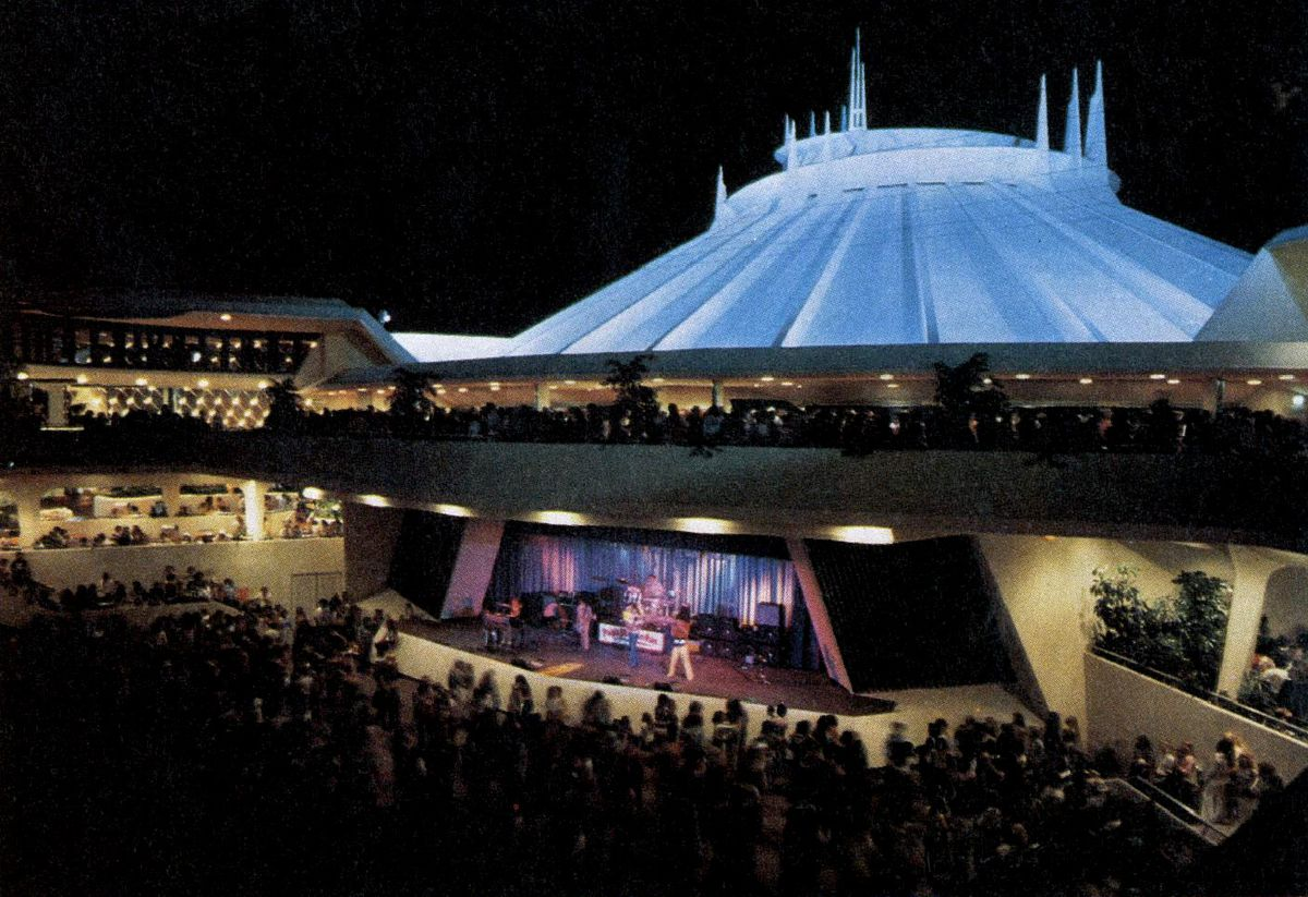 Performance on Space Mountain stage