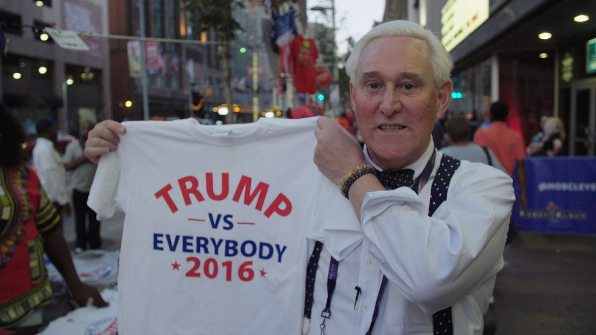 Republican operative Roger Stone in Get Me Roger Stone