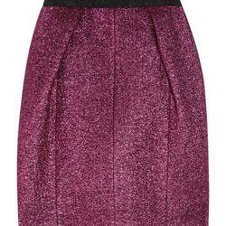 "<a href=""https://www.theoutnet.com/product/321113"">Metallic bouclé wool-blend mini skirt by Marc Jacobs</a>, $165 (was $825)"