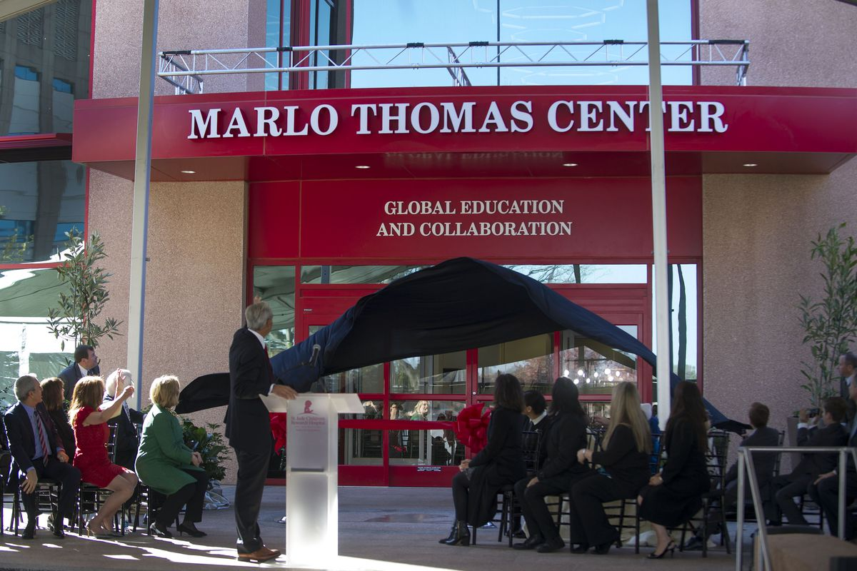 The Marlo Thomas Center For Global Education & Collaboration, part of St. Jude Children's Research Hospital in Memphis, Tennessee. The hospital, which doesn't bill the families it serves, is planning a major expansion.