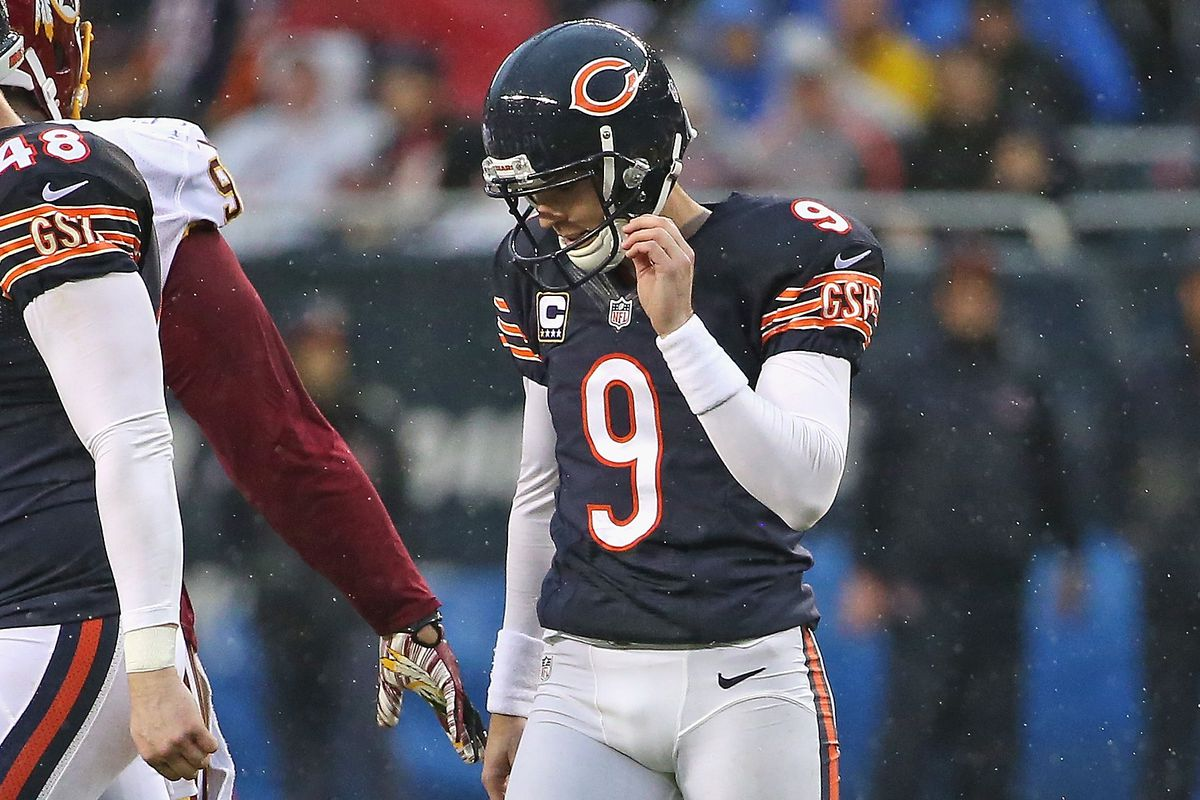 The Bears are a couple Robbie Gould kicks away from this game meaning a lot more to them.