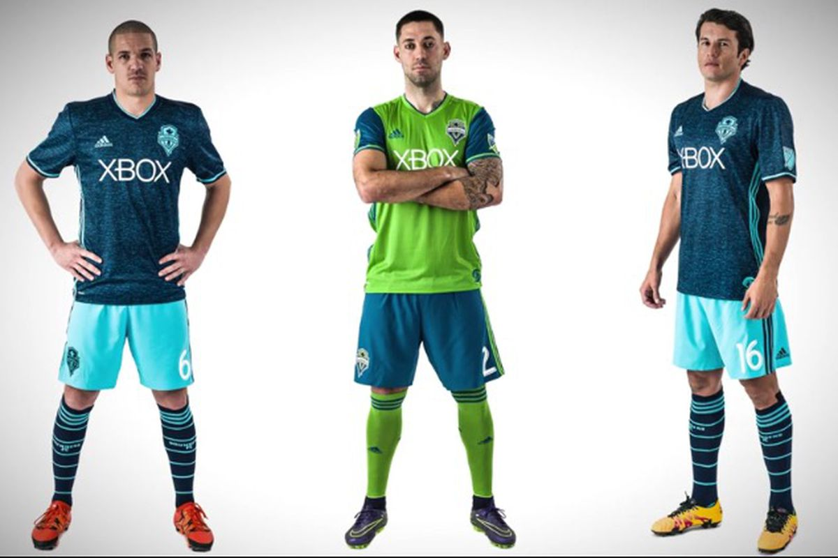 newest c8710 69869 Sounders reveal 2016 kits: Blue is the new black - Sounder ...
