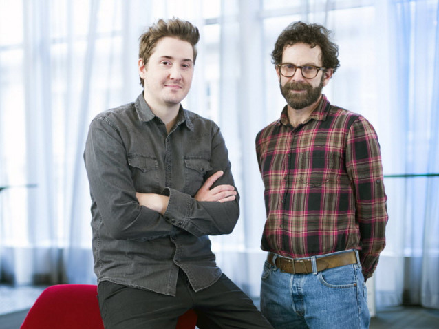 """Charlie Kaufman (right) and his """"Anomalisa"""" co-director Duke Johnson. 