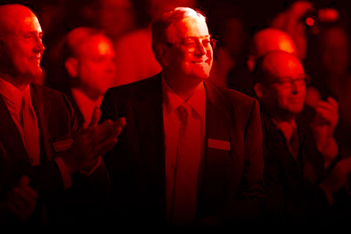 New research shows an explosion of resources controlled by outside conservative groups funded by wealthy donor networks tied to David Koch, above.