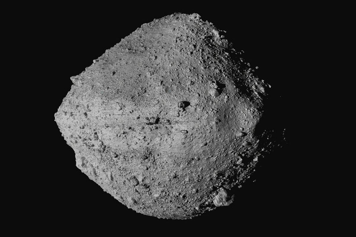 The asteroid Bennu from the OSIRIS-REx spacecraft.