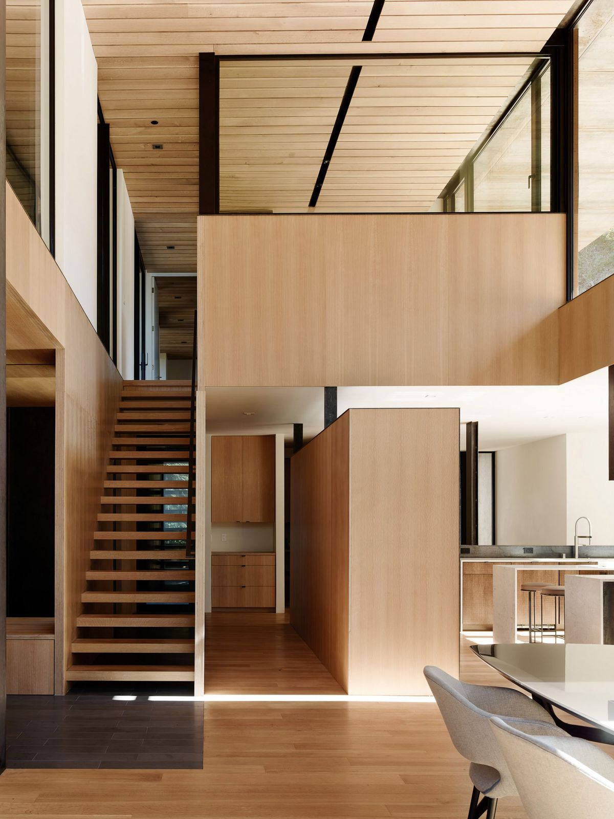 Dramatic Modern Home Dazzles In Weathering Steel Curbed