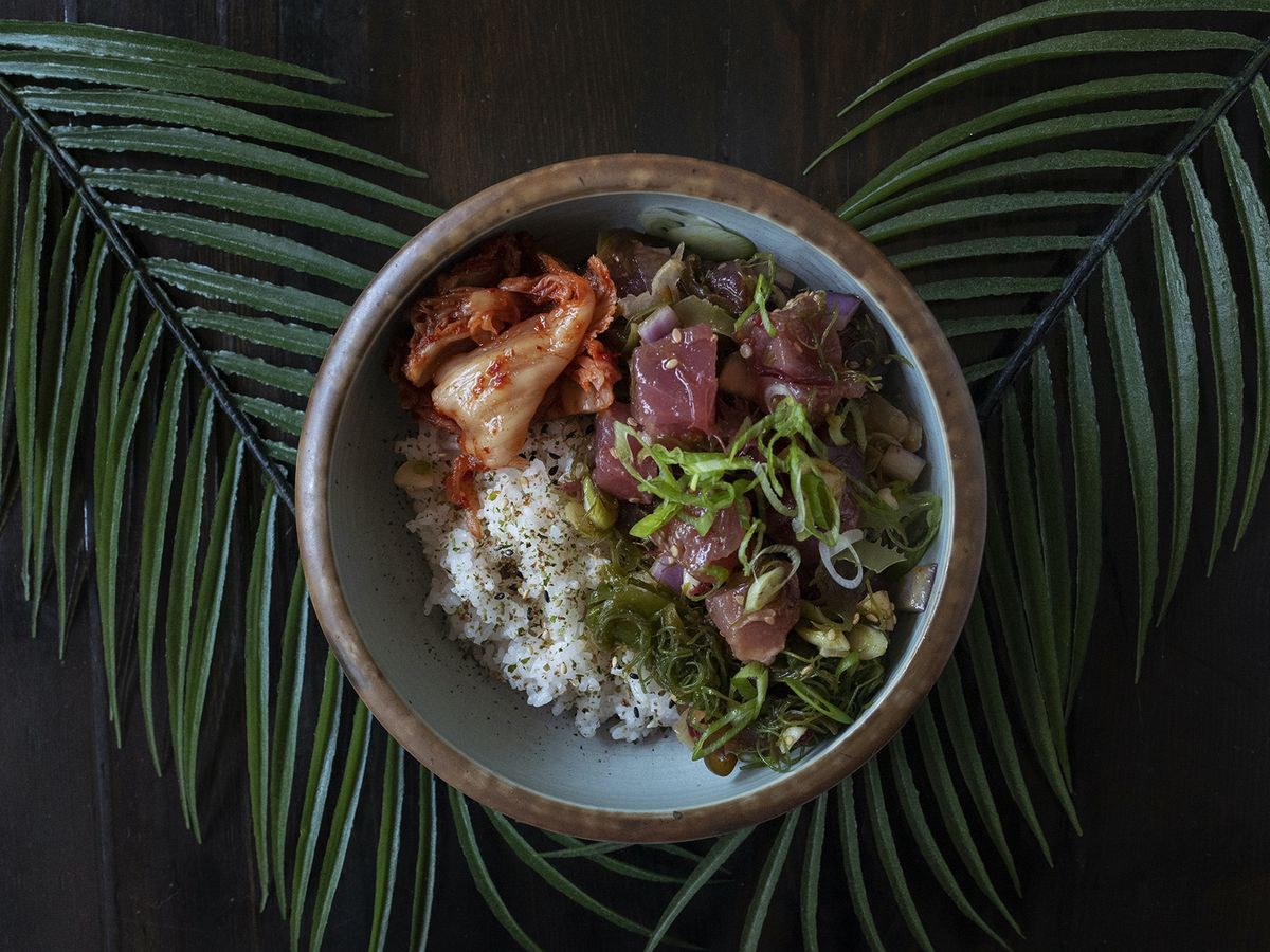 A bowl of tuna poke is available at Noreetuh, a Hawaiian-inspired restaurant in the East Village
