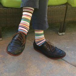 Hugh Acheson rocks the socks