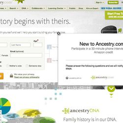 Ancestry.com is the largest family history and genealogy company in the world.