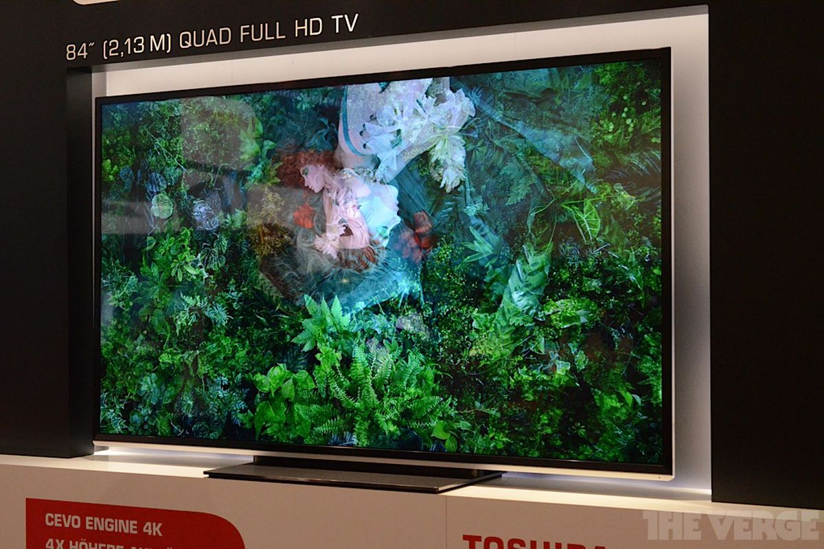 Toshiba's 84-inch 'Quad Full HD (4K)' TV coming first half of 2013