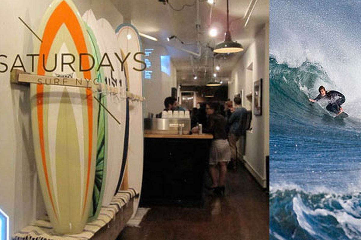 """Saturdays Surf NYC on left via <a href=""""http://www.push.ca/blogs/andrewsk/archive/2009/10/23/24-hours-in-n-y-c.aspx"""">Push.ca</a>; Image on right via <a href=""""http://www.flickr.com/photos/mikebaird/2922788582/sizes/z/in/photostream/"""">mikebaird/flickr"""