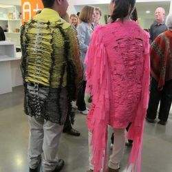 Design students and their woven neon jackets