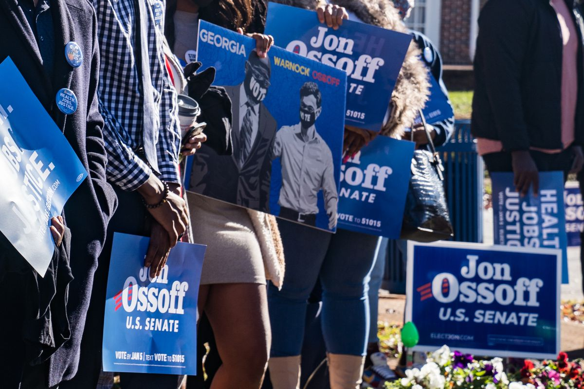 Democratic Senate Candidate Jon Ossoff Votes Early In Runoff Election