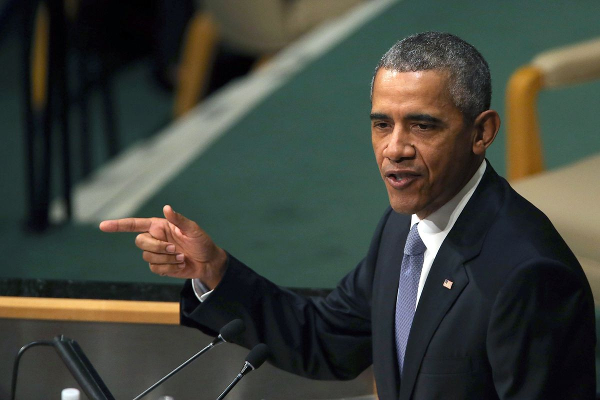 Obama speaks at the UN.