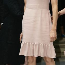 Princess Charlene plays it down in a summer frock.