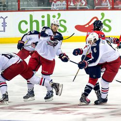 Wilson Takes Out Three Blue Jackets