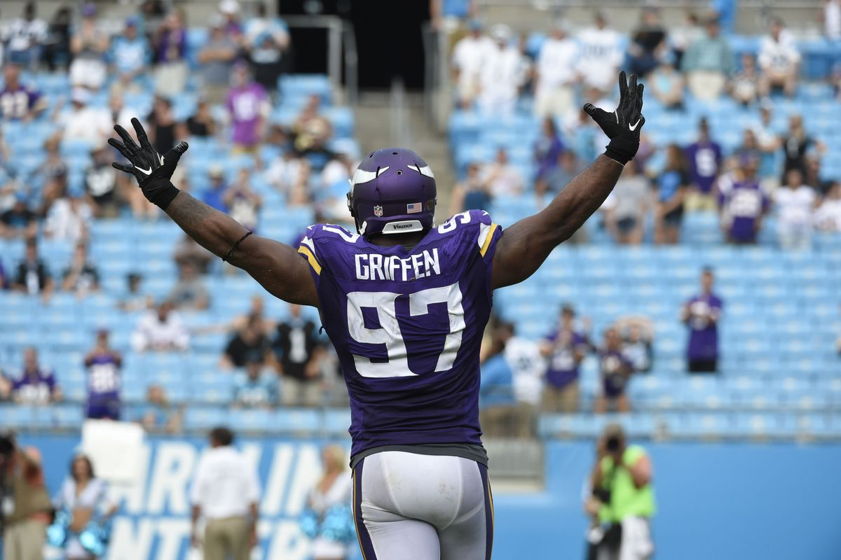 Everson Griffen wasn t too sick to stop Cam Newton and the