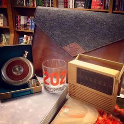 In addition to books for children and adults, <strong>Politics & Prose</strong> will bring gifts like 202 area code glasses, iPad docks, flasks, and laptop cases.