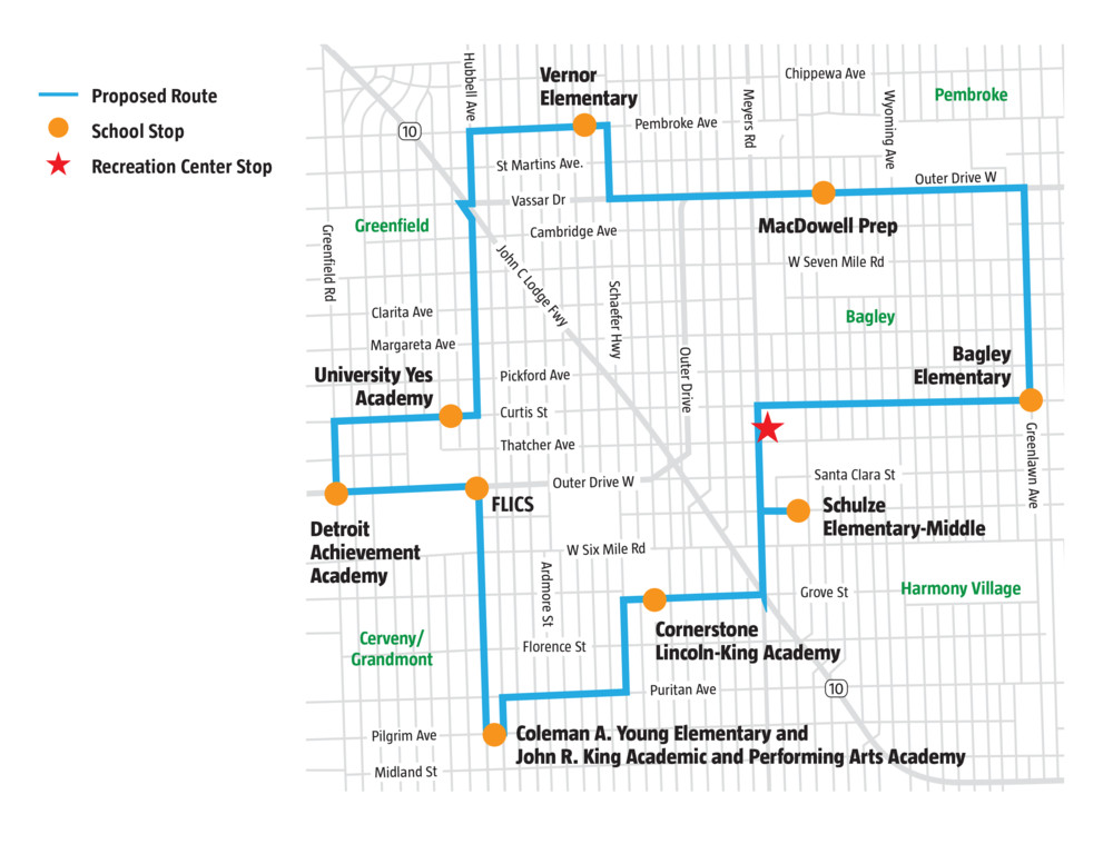 GOAL bus map