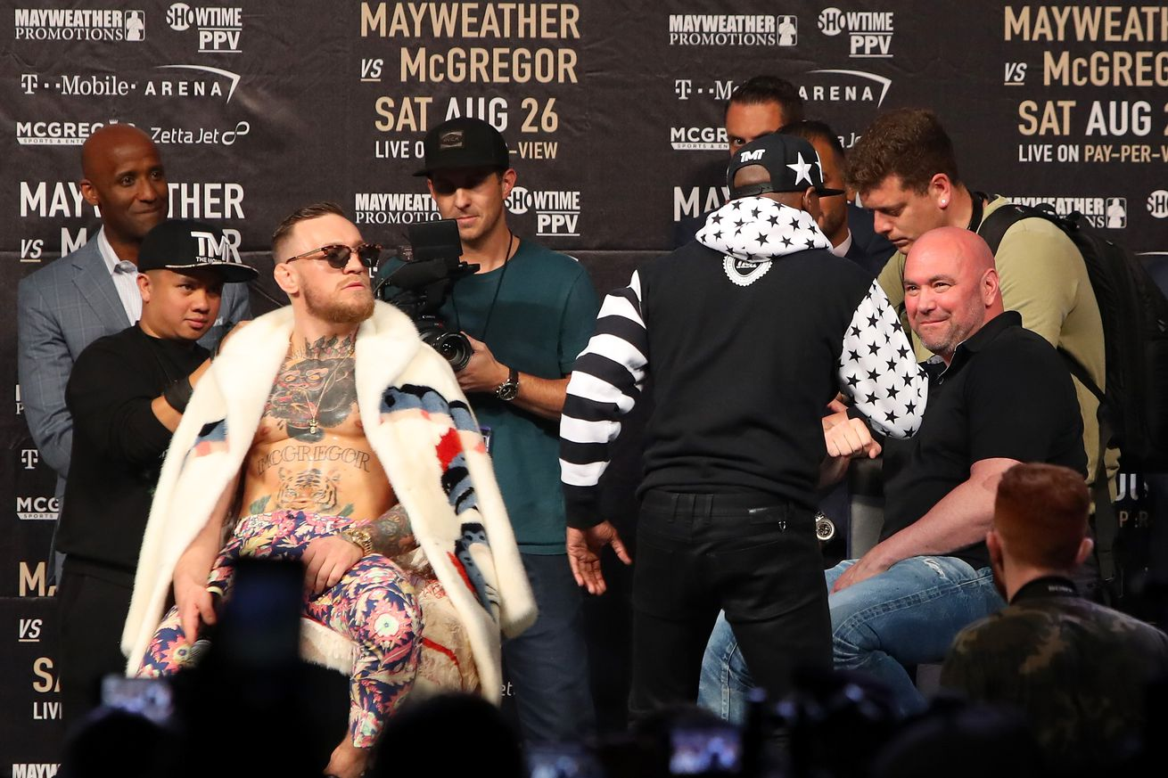 community news, UFC files application to co promote Mayweather vs McGregor boxing match on Aug. 26