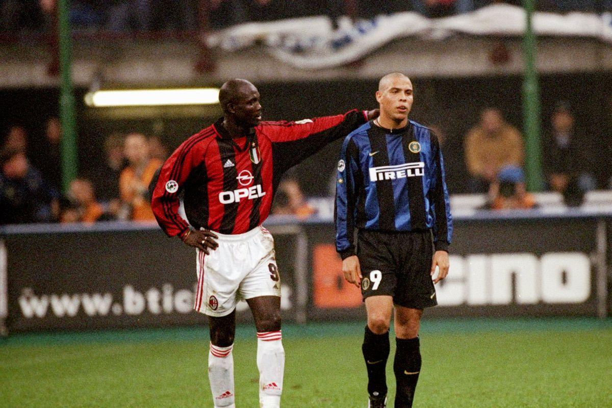 George Weah and Ronaldo