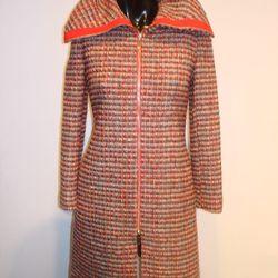 <b>Carolina Herrera</b> Tweed Wide Collar Zippered Coat, $575
