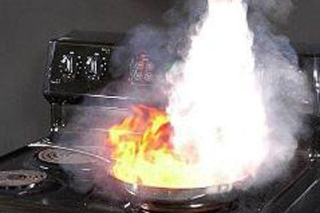 Stove safety firestop.