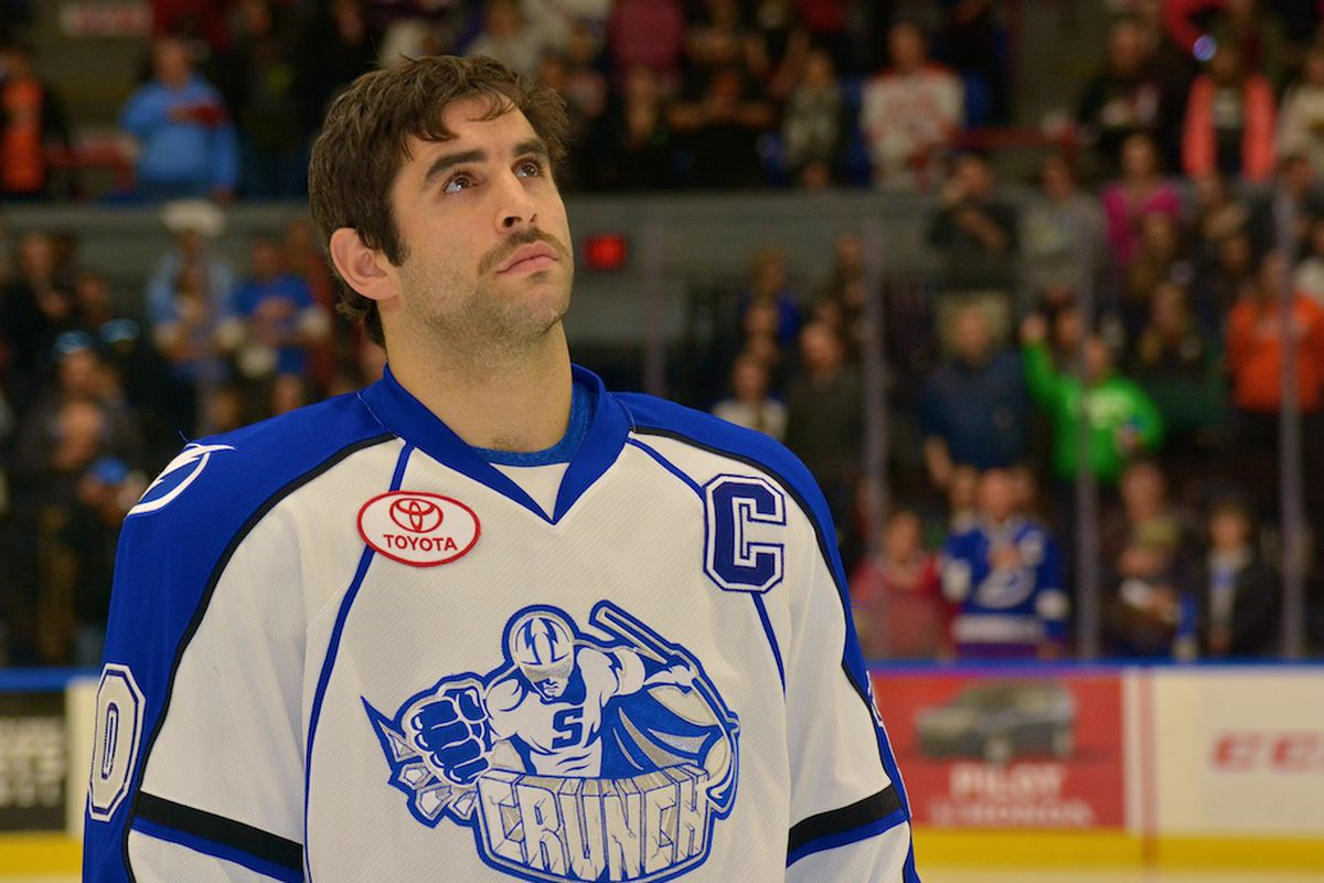 Syracuse captain Mike Angelidis returned this past weekend to the Crunch's roster, but it didn't give the impact many had hoped.