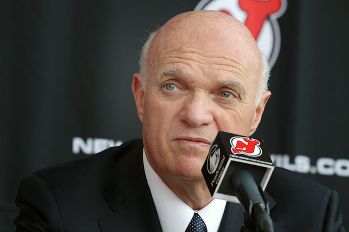 It's time for Lou Lamoriello to make some difficult decisions to get the Devils underneath the salary cap. (Photo by Andy Marlin/Getty Images)