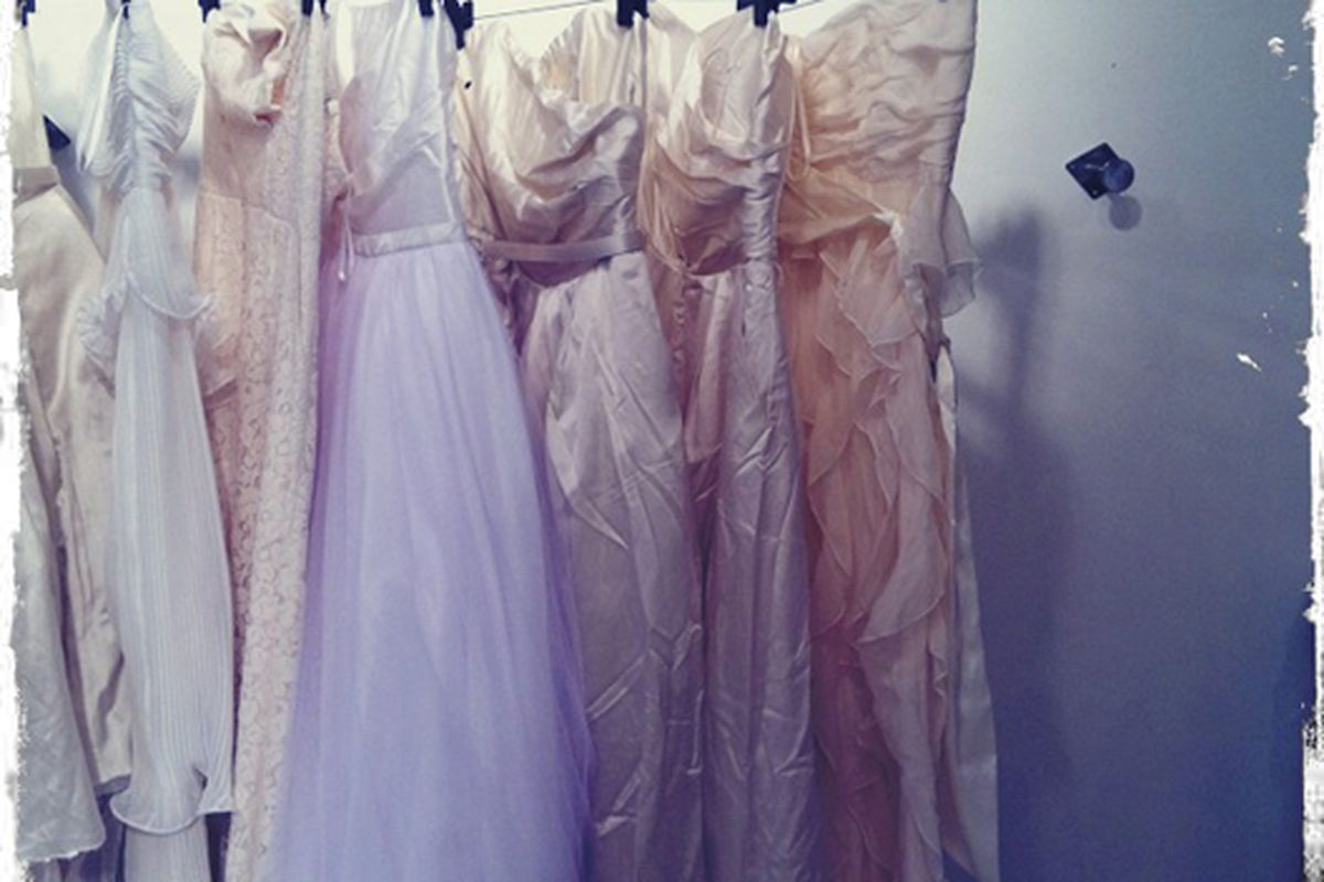 Arty photo of sale dresses courtesy The Limited