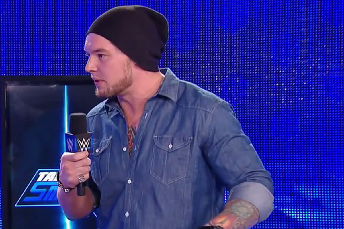timeless design 7ecb3 4793b Baron Corbin s recent booking reportedly the result of an incident in  talent meeting on concussion safety