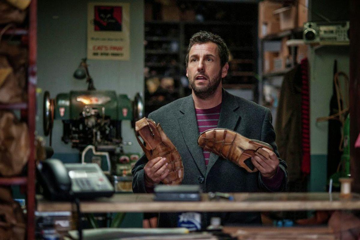 Adam Sandler plays a cobbler with a magic shoe stitcher in The Cobbler.