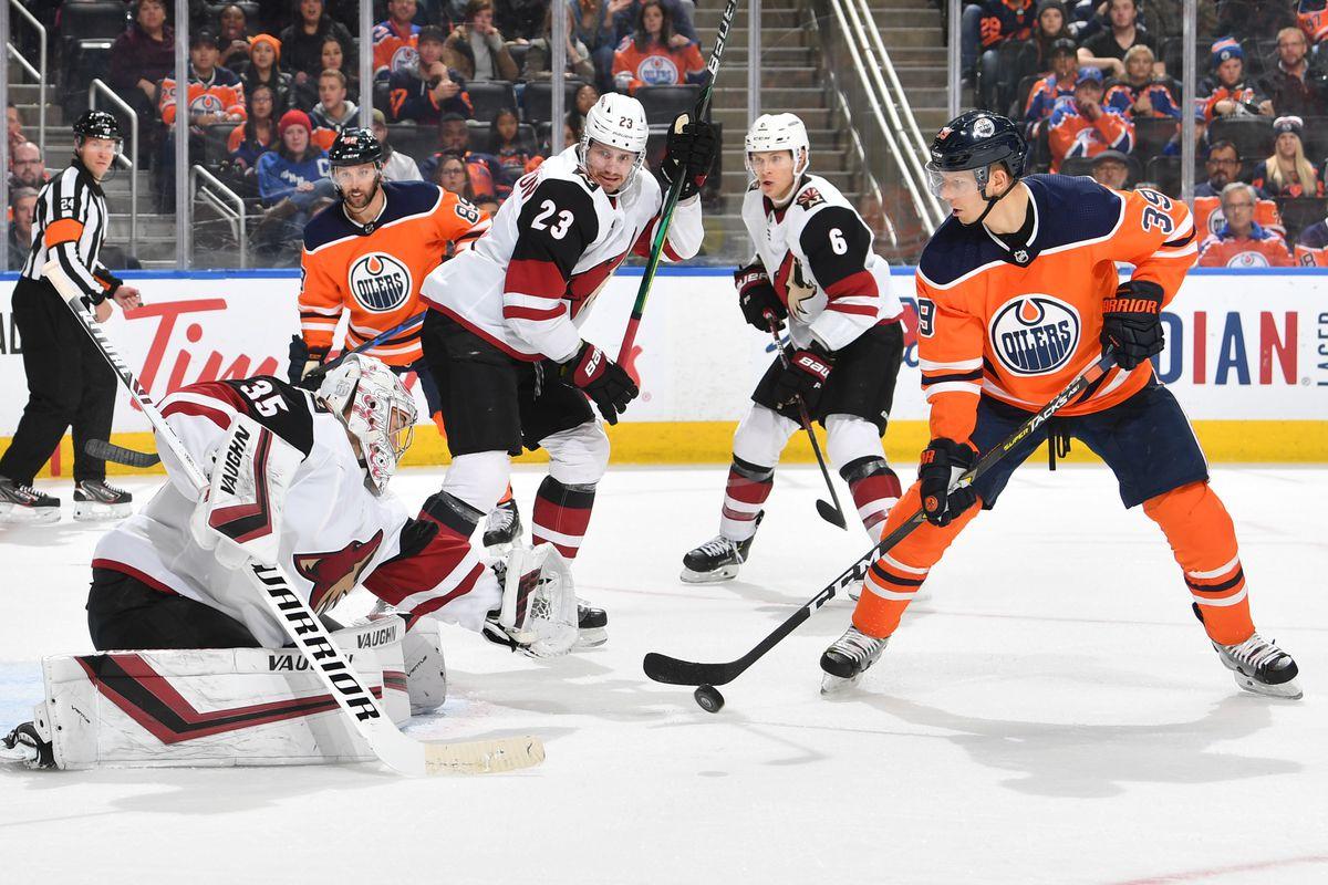 Arizona Coyotes v Edmonton Oilers