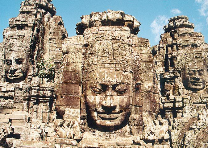 The Bayon was created in the 12th century.