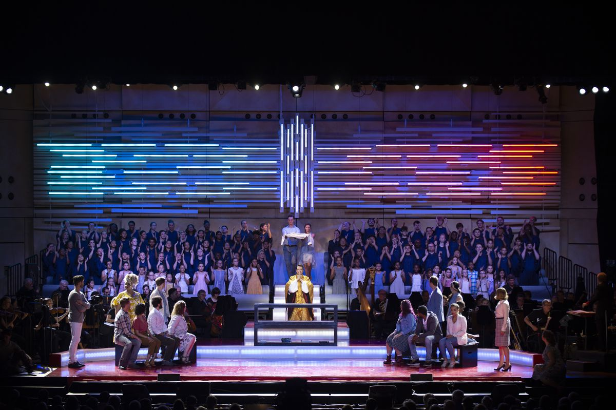 Leonard Bernstein's Mass is presented at Ravinia in 2018. Live performances will return to the stage of the Highland Park venue in July.