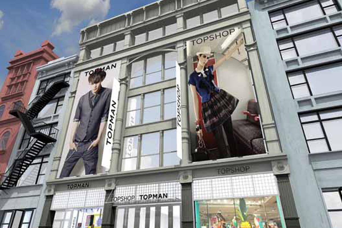 Behold!  The Topshop facade